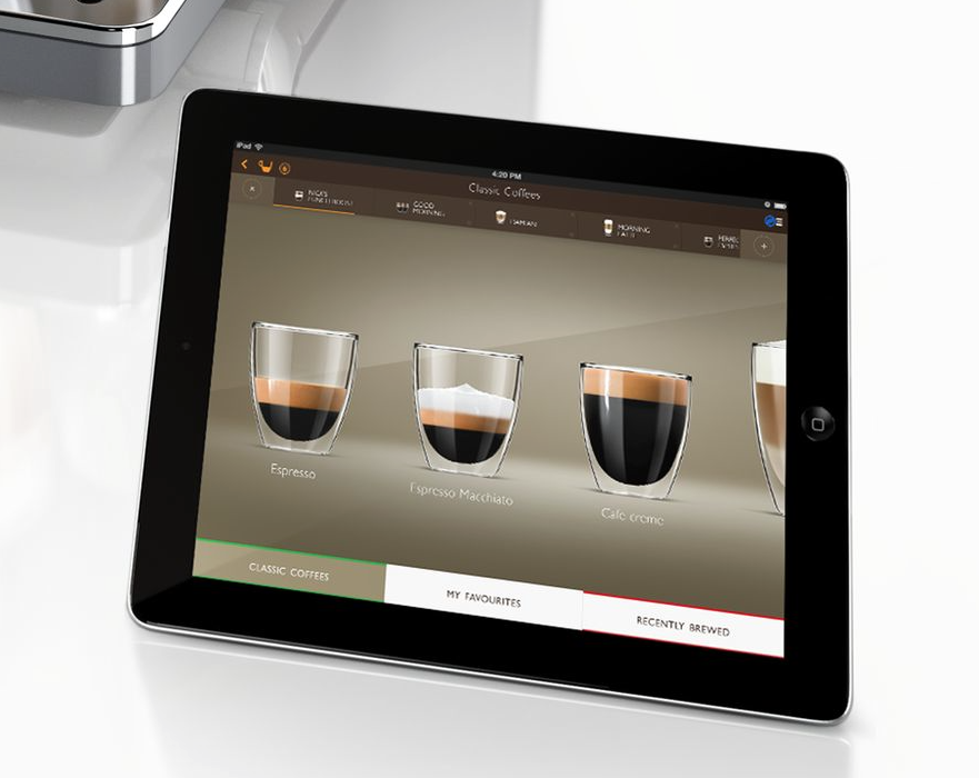 tolle sache erste kaffemaschine mit ipad app. Black Bedroom Furniture Sets. Home Design Ideas