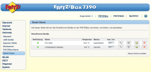 FritzBox SmartHome Geräte