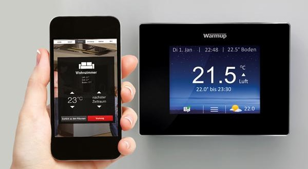warmup 4ie smart thermostat heizungssteuerung mit hirn. Black Bedroom Furniture Sets. Home Design Ideas