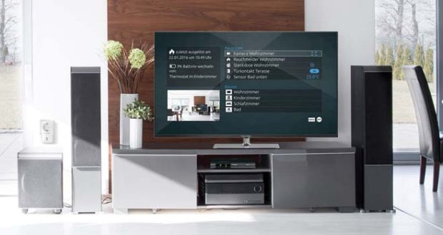 technisat smart home z wave system mit fernseher als zentrale. Black Bedroom Furniture Sets. Home Design Ideas