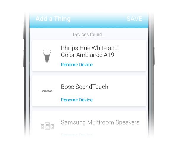 SmartThings Mobile App Gerät hinzufügen