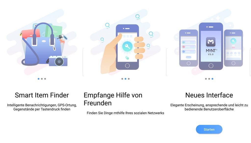 MYNT Tracker App-Start